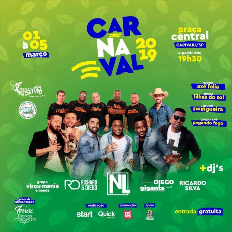 Capivari terá cinco dias de folia no Carnaval 2019