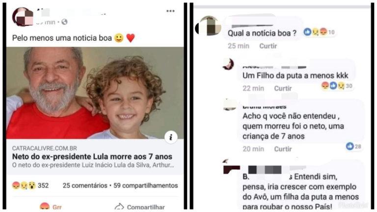 "Read more about the article ""Blogueira"" comemora a morte do netinho de Lula"