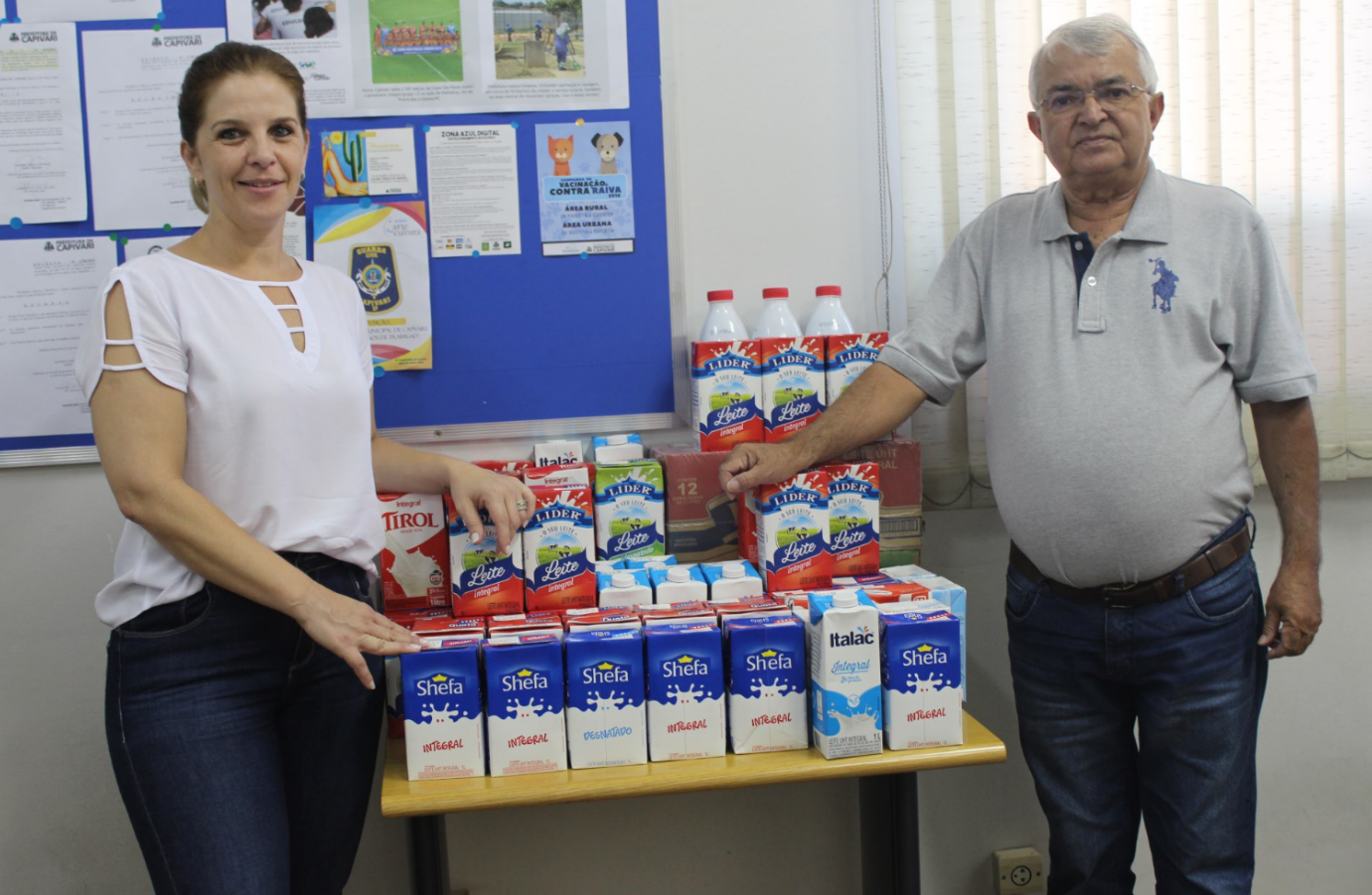 Read more about the article Prefeitura mobiliza ação para arrecadação de leite para a Santa Casa