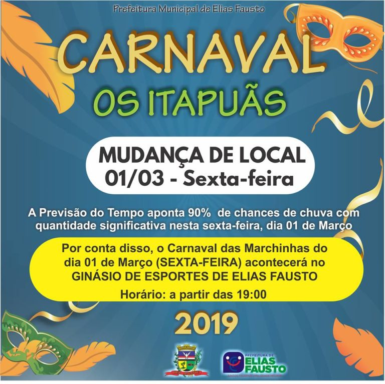 Read more about the article Prefeitura altera local do Carnaval