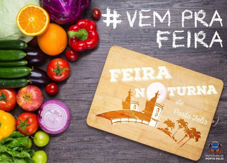 Feira Noturna acontece hoje em Porto Feliz
