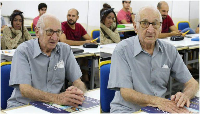 Read more about the article Aos 90 anos, avô realiza sonho de entrar na faculdade de Arquitetura