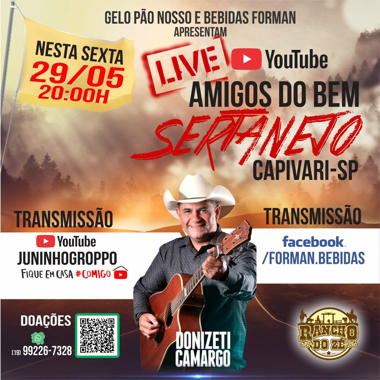 Read more about the article Live Beneficente AMIGOS DO BEM